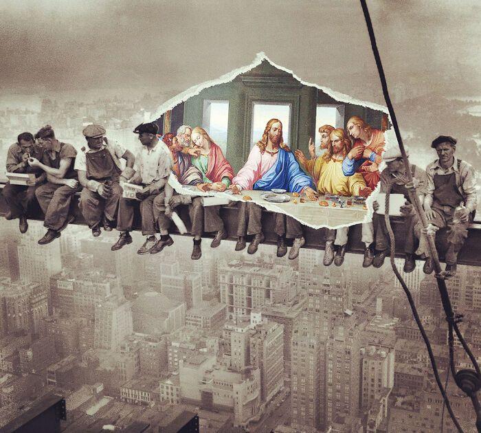 O que acontece quando você combina pinturas famosas e cultura pop (42 fotos) 41