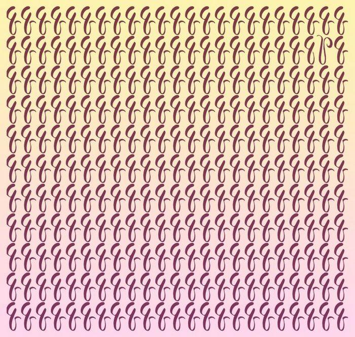 Teste: Encontre a letra diferente em menos de 5 segundos 10