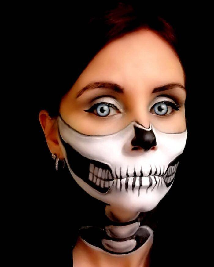 44 transformações com maquiagem: Ilusões de ótica 9