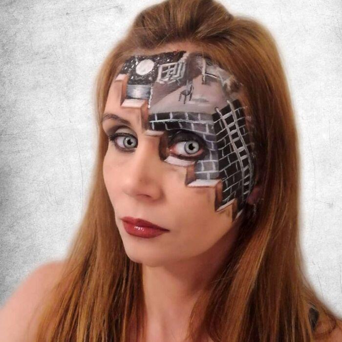 44 transformações com maquiagem: Ilusões de ótica 13