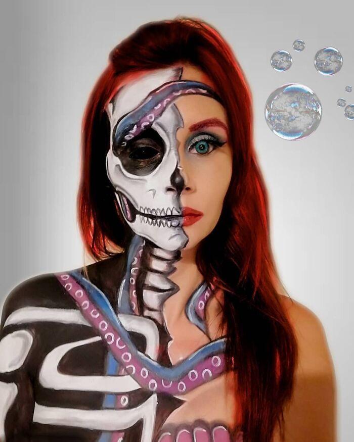 44 transformações com maquiagem: Ilusões de ótica 14
