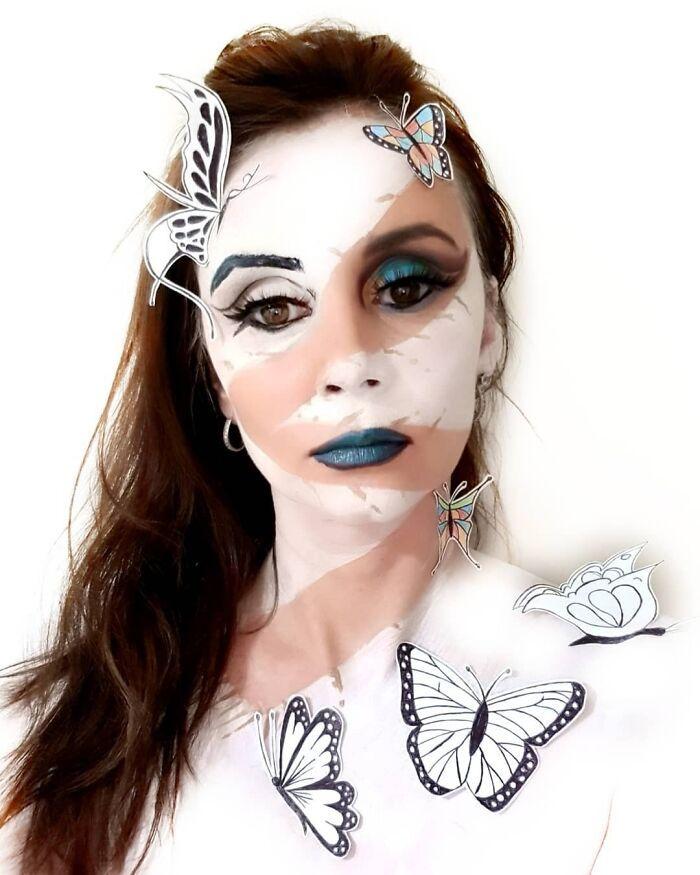 44 transformações com maquiagem: Ilusões de ótica 19