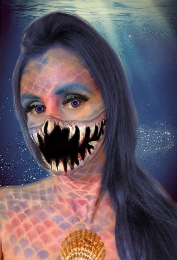 44 transformações com maquiagem: Ilusões de ótica 24