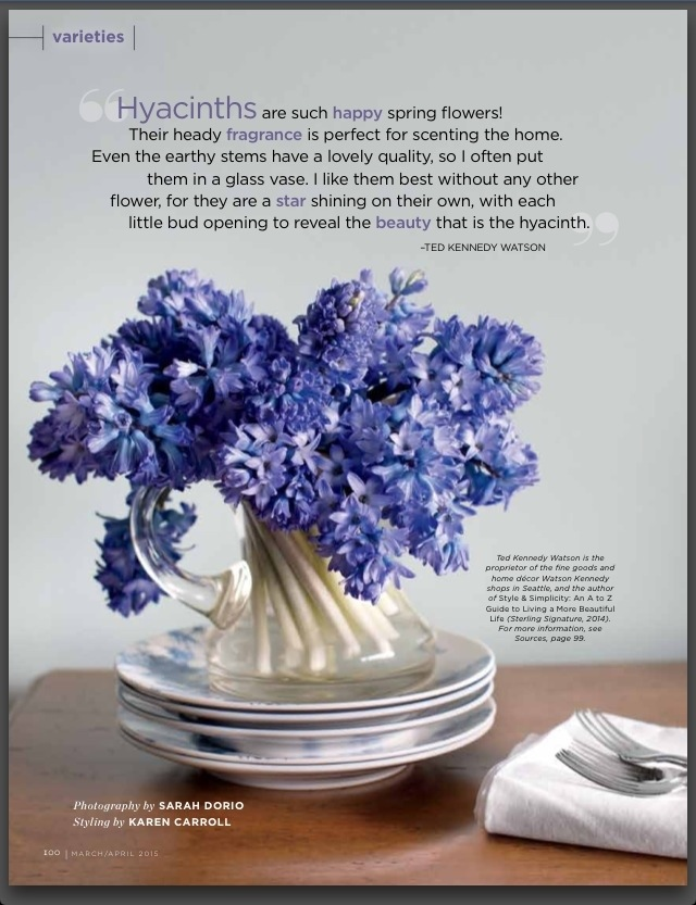 Tkw Hyacinth Quote In Flower Magazine Ted Kennedy Watson