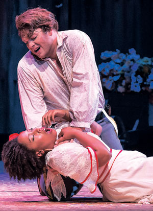 """Brianna Hunter as Carmen and Brett Payne as Don Jose star in the Music Academy of the West's production of """"Carmen"""""""