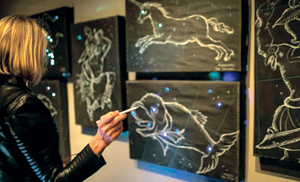 "As part of Santa Barbara Museum of Art's ""Moons, Mapping, Memory, and Fantastic Machines"" visitors can create constellations against a musical backdrop.COURTESY PHOTO"