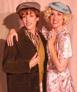 "Megan Davis plays Mack, and Stephanie Sivers is Josephine in ""Precious Nonesense."""