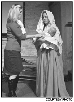 """Lara Halloway, left, plays Grace Bradley and Maaggie Langhorne plays Imogene Herdman in """"The Best Christmas Pageant Ever."""""""