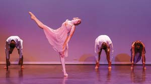 """The dancers performing in """"Spoons"""" are, from left, Phil Turay, Morgan Ashley, Ryan Ruiz and Lindsay Marquino. victorvicphoto.com"""