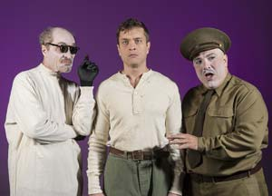 "The ""Woyzeck"" cast includes Matt Gottlieb (Doctor), Stephen Van Dorn (Woyzeck) and Matthew Henerson (Captain). David Bazemore"