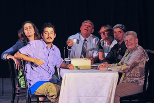 """""""The cast of """"Over the River and Through the Woods,"""" playing at the Plaza Playhouse Theater through July 26. Tom Lucy photo"""