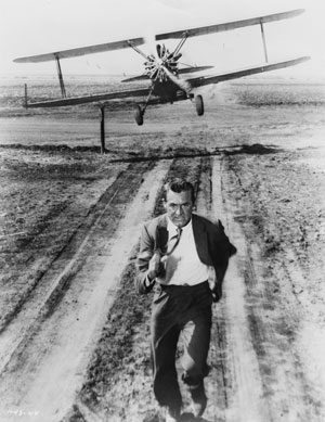 """Cary Grant in a scene from """"North by Northwest"""" Margaret Herrick Library photo"""