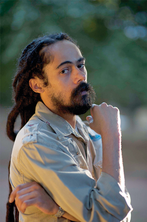 Damien Marley is the youngest son of Jamaican reggae singer Bob Marley. Along with his brother, Stephen, he brings the Catch A Fire Tour to the Santa Barbara Bowl tonight. Courtesy photo