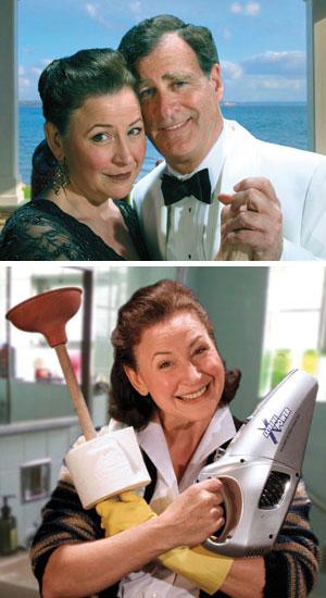 Leslie Gangl Howe, left, as Becky and Martin Bell as Walter Leslie Gangl Howe as Becky Bec Crop photos