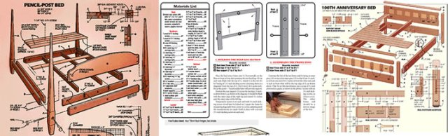 Download 125 Bed Plans Plus 16,000 Woodworking Plans