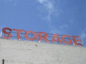 storage sign