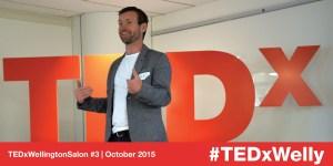 Alex Hannant speaking at TEDxWellington Salon #3