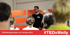 Ben Forman speaking at TEDxWellington Salon #3