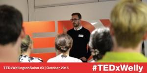 Ben Forman speaking at TEDxWellington Salon #3