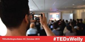 TEDxWellington licensee DK taking photos at TEDxWellington Salon #3