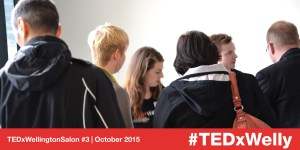 Attendees arriving at TEDxWellington Salon #3