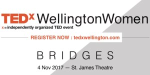 TEDxWellingtonWomen announcement logo register now