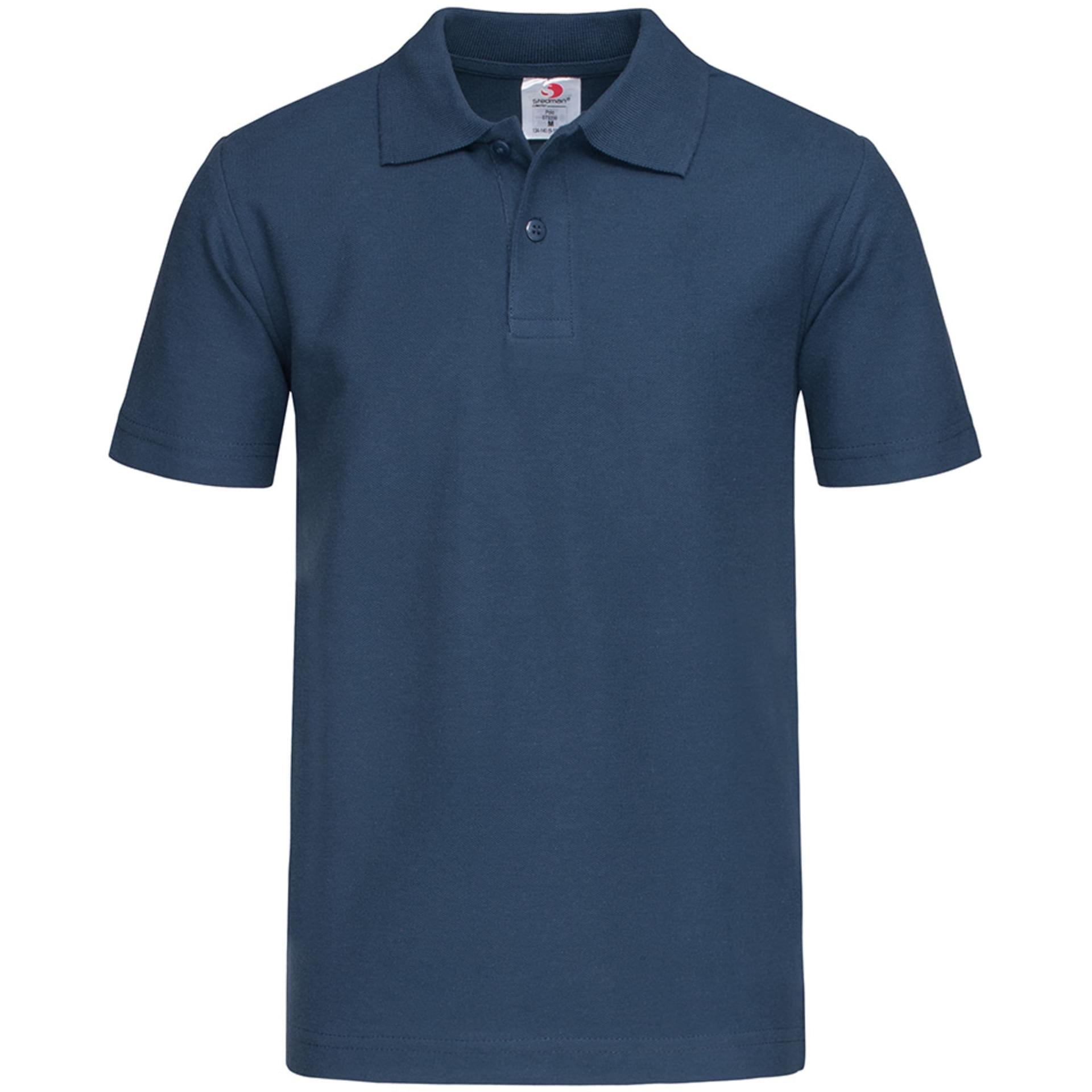 Polo Personnalise Short Sleeve Polo Shirt For Children Stedman Navy Blue