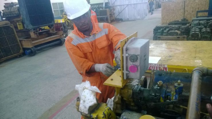 installation of shielded Ingnition system at shell IA