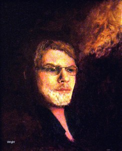 Self-portrait: T. M. Wright with Muse