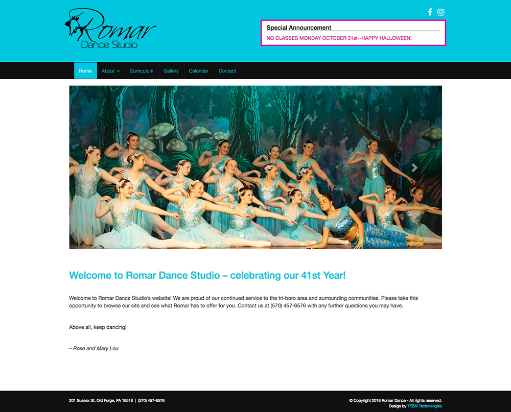 romardance-website-home