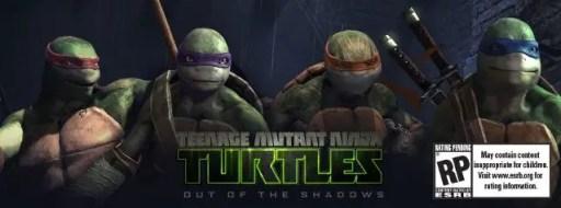 TMNT Out of The Shadows game banner Teenage Mutant Ninja Turtles