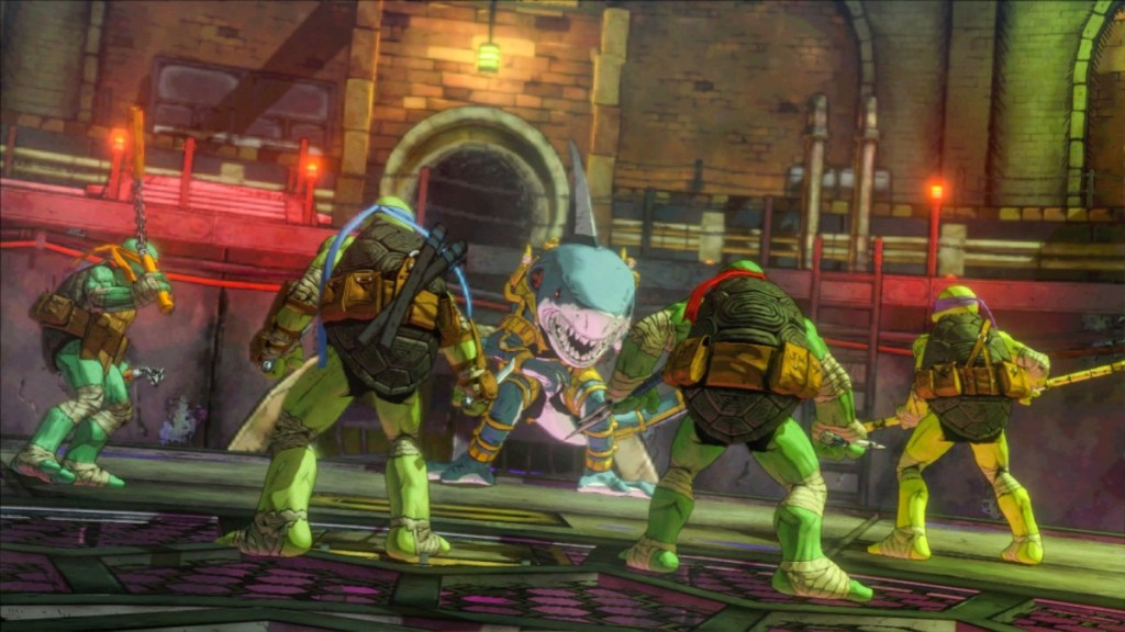Image of all four turtles in TMNT: Mutants in Manhattan
