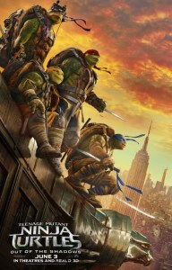 Poster artwork for Teenage Mutant Ninja Turtles: Out of the Shadows. Source: Paramount Pictures.