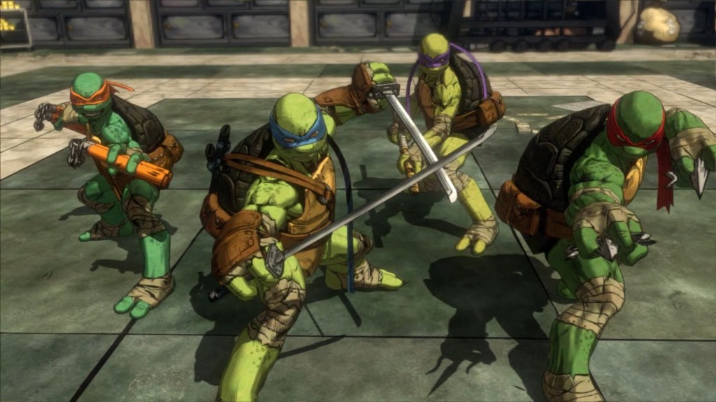 All four turtles are ready to face the harsh reality of this Mutants in Manhattan review. Source: Activision, Platinum Games