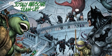 Is Warner Bros working on a Batman/TMNT movie? Well, let's talk about that. Image Source: DC Comics, IDW.
