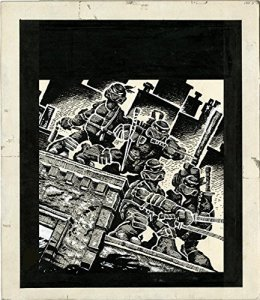 This is the initial artwork for the Artisan Edition of TMNT #1 from IDW. Image Source: IDW.