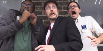 Who better to cover TMNT: Out of the Shadows than the Nostalgia Critic, AVGN and Black Nerd! Image Source: Channel Awesome.