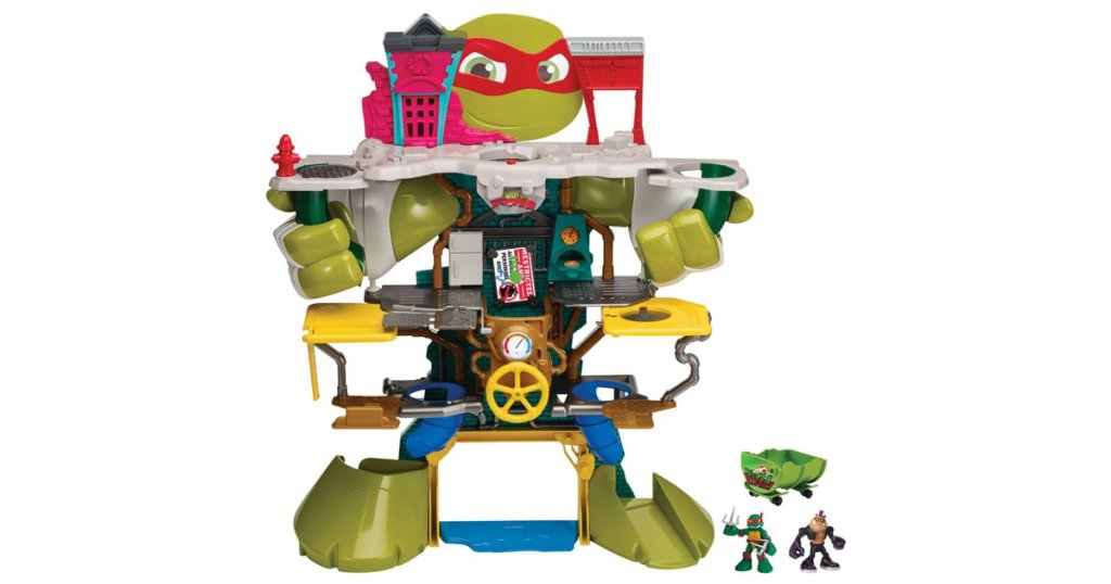 The Half-Shell Headquarters playset is perfect for younger TMNT fans. Image Source: Playmates Toys.