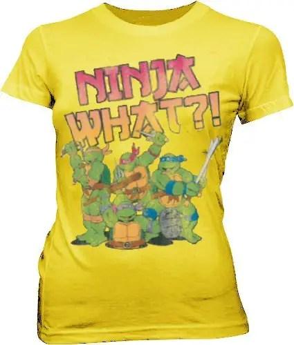 Ninja Turtles Ninja What?! Juniors Yellow T-shirt