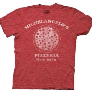 Ninja Turtles Michelangelo's Pizzeria Red Heathered T-shirt