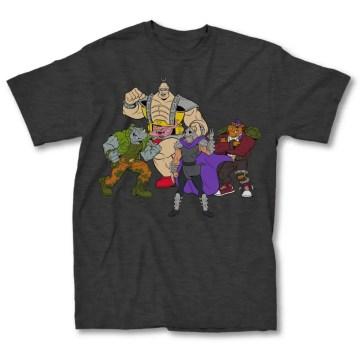 Ninja Turtles Villains Charcoal T-Shirt