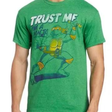 Michelangelo Trust Me I'm A Ninja Green T-Shirt