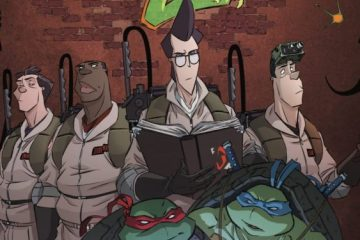 It looks like the Ghostbusters will be teaming up with the TMNT once again! Image Source: IDW.