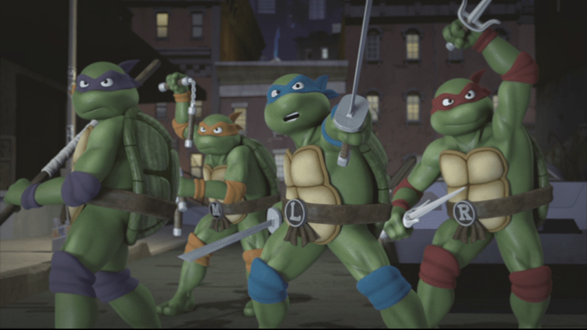 The 80's TMNT are back once again in another crossover event! Image Source: Paramount Home Video, Nickelodeon.