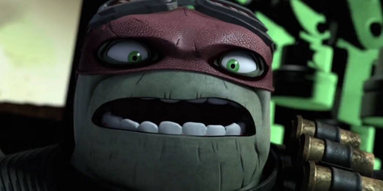 Raph is looking a little ragged in the post-apocalypse. Catch this story arc on Nicktoons this Friday, September 22nd. Image Source: Nickelodeon.