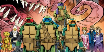 This artwork comes from the cover of issue #75, which will be released on TMNT Day! Image Source: IDW, FreeComicBookDay.com