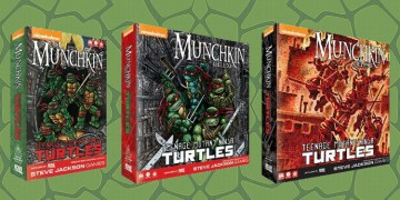 IDW Games will be working with Steve Jackson Games to create a new Teenage Mutant Ninja Turtles Munchkin game. Image Source: IDW Games, Steve Jackson Games.