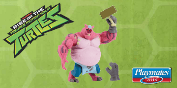 During Toy Fair 2018, Playmates Toys revealed the action figure and details about a new character for Rise of the TMNT called 'Meat Sweats'. Image Source: Playmates Toys, Nickelodeon.