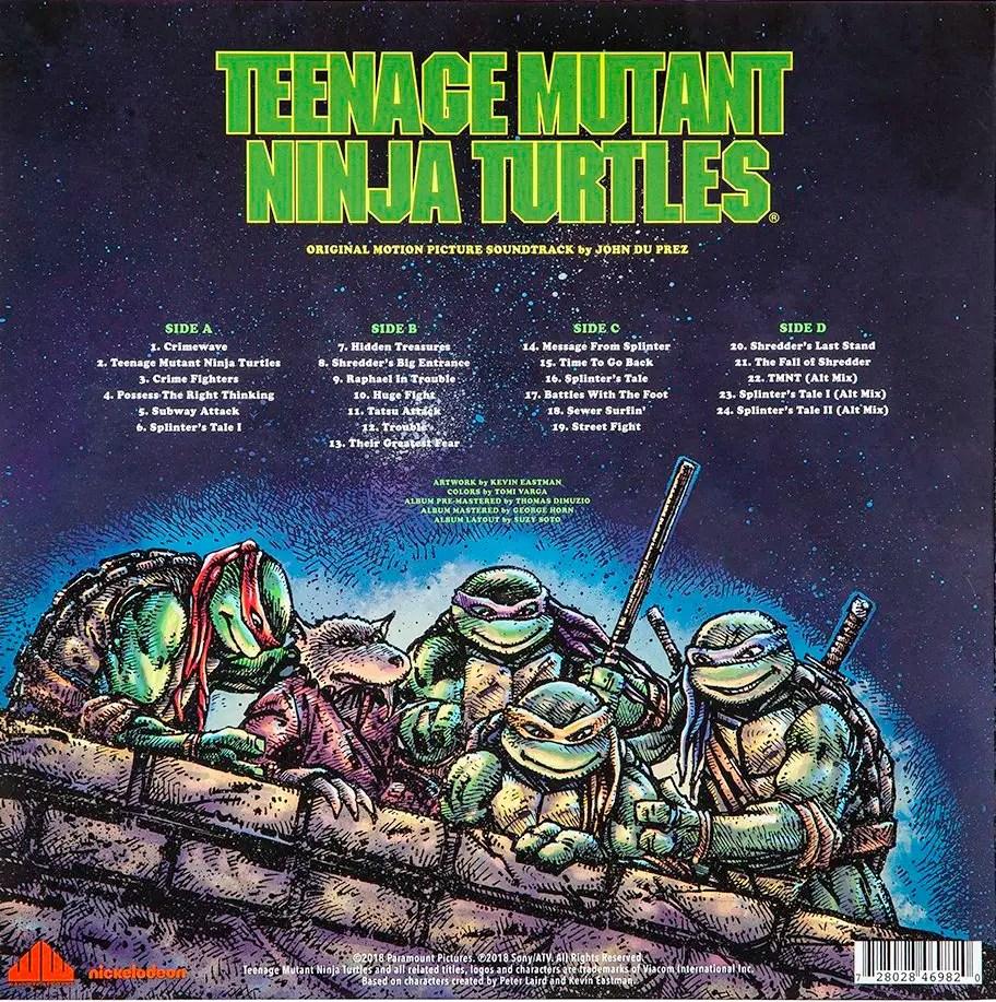 Teenage Mutant Ninja Turtles 90 S Film Soundtrack Coming To Vinyl Teenage Mutant Ninja Turtles Fan Site