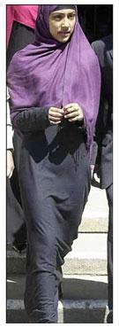 Shabina Begum wearing Jilbab